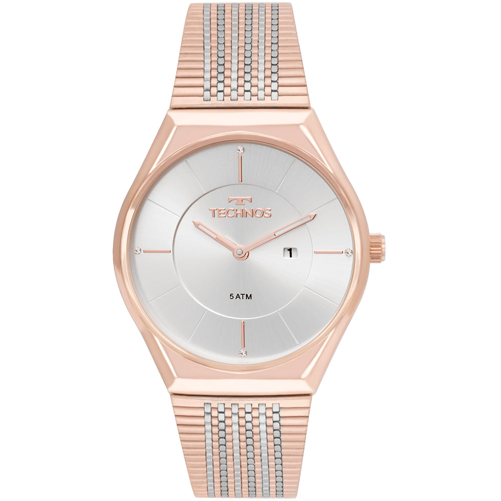 b8bcfe69a4119 Relógio Technos Feminino Fashion Trend Bicolor - GL15AP 4B - timecenter