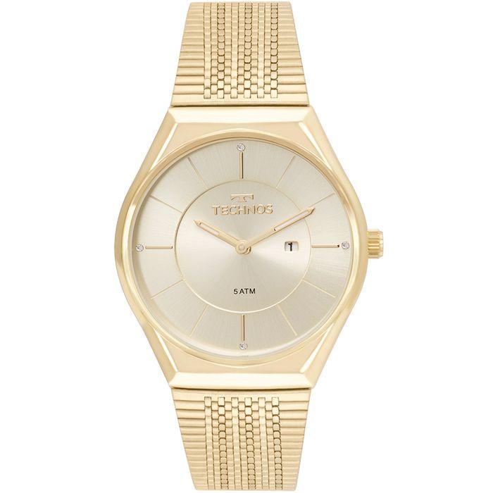 9935759a47ffa Relógio Technos Feminino Fashion Trend Dourado - GL15AR 4X - technos