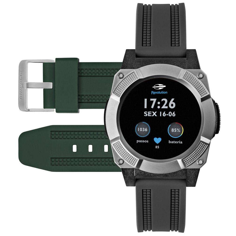ad1ac7aa57217 Smartwatch Mormaii Masculino Revolution Prata - MOSRAA 8C - timecenter