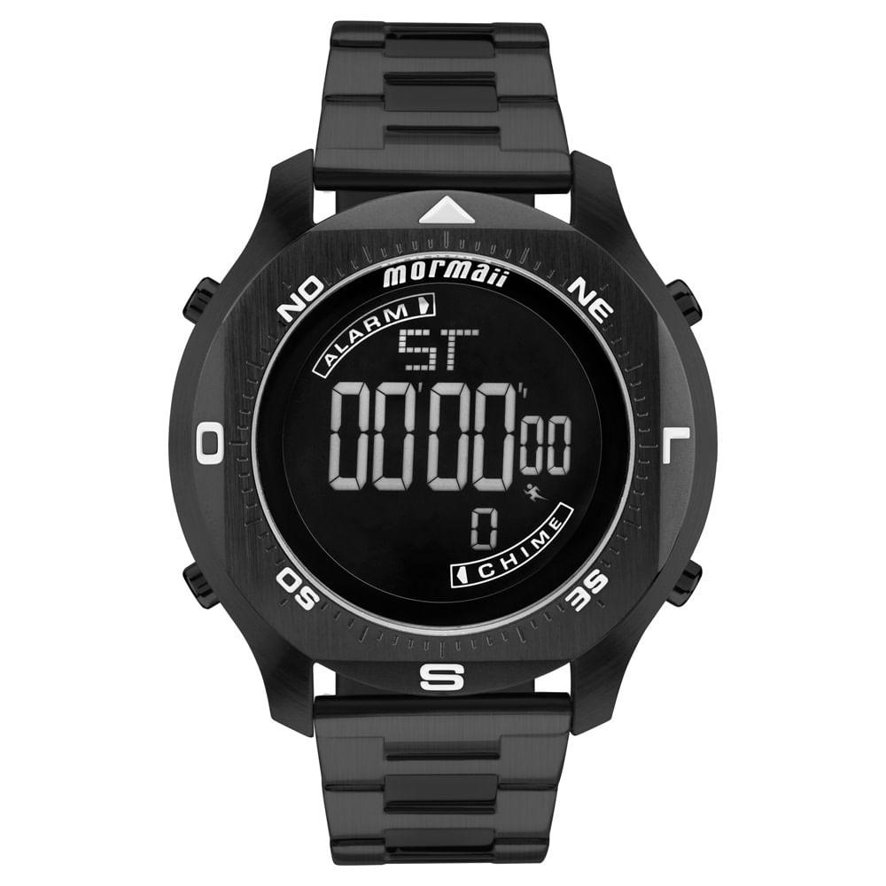 Relógio Mormaii Masculino Acqua Pro Preto - MO11273B 4P - timecenter c262fa2c78