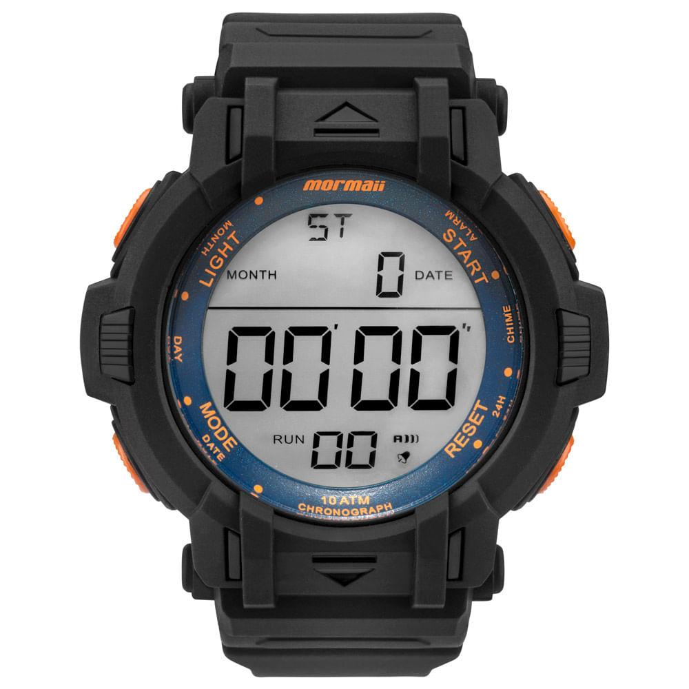 c3b81c49c152b Relógio Mormaii Masculino Acqua Action Preto - MOM08111D 8L - timecenter