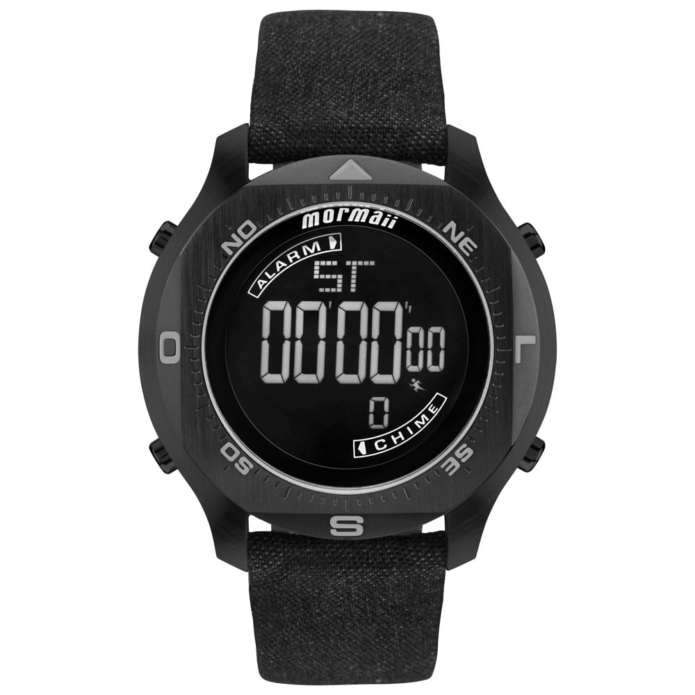 357426d3a5fbe Relógio Mormaii Masculino Acqua Pro Preto - MO11273D 2P - timecenter