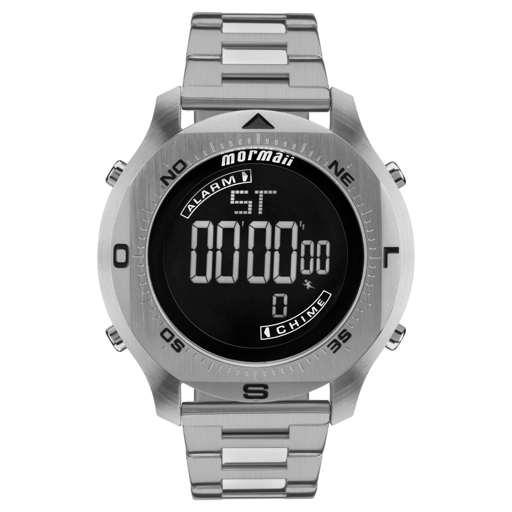 5fd6ae60fd303 Relógio Mormaii Masculino Acqua Pro Prata - MO11273C 1P - timecenter