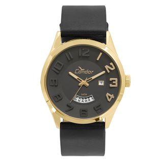 c51b042ddea5e Relógio Condor Masculino Casual Couro Dourado - CO2115KST K2P