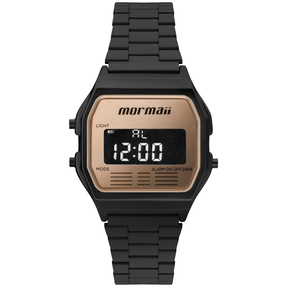 aca35366751 Relógio Mormaii Unissex Maui Vintage Preto - MOJH02AO 4J - timecenter