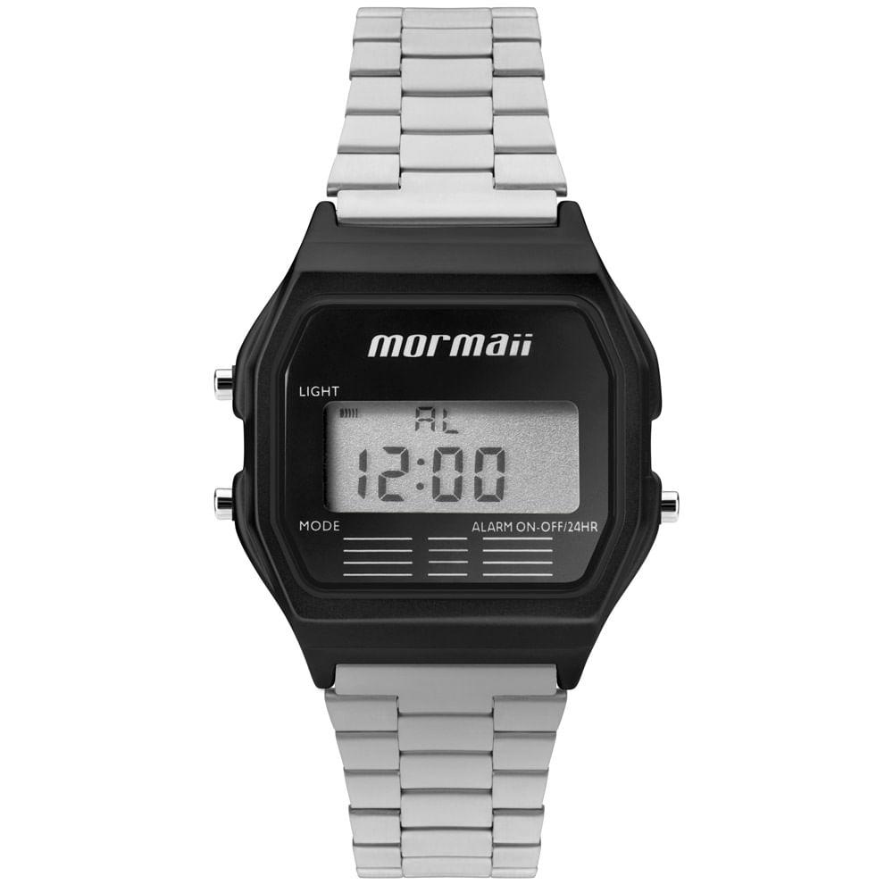 11b19e3740e Relógio Mormaii Unissex Maui Vintage Preto - MOJH02AL 4P - timecenter