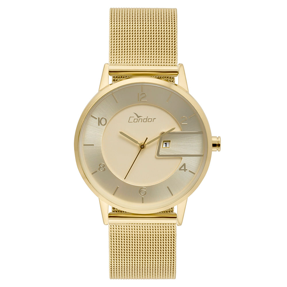 3ed41659094 Relógio Condor Feminino Eterna Bracelete Dourado - COGL10BP K4D ...