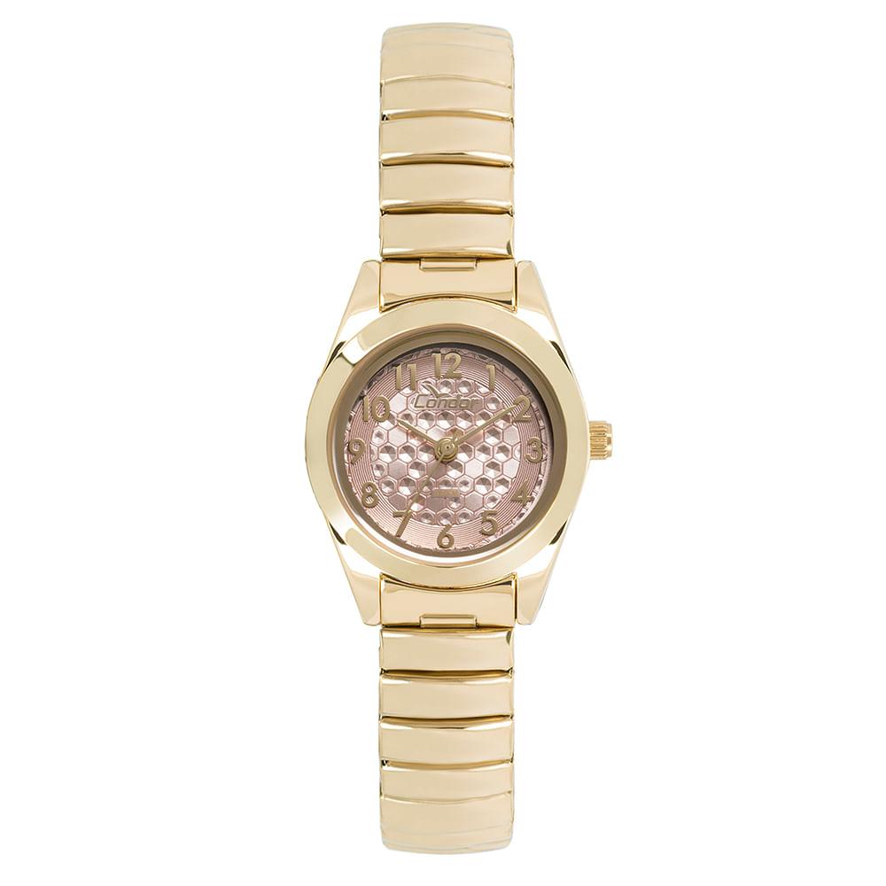 5df23f6f025 Relógio Condor Feminino Eterna Mini Dourado - CO2035KWG 4T - timecenter