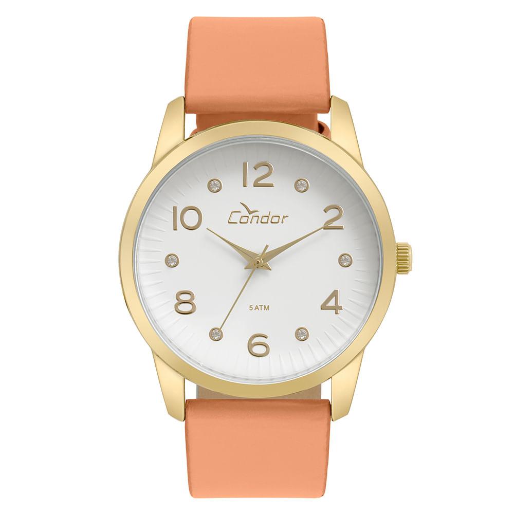 88cdd70bf63b8 Relógio Condor Feminino Eterna Bracelete Dourado - CO2035KWE 2B ...