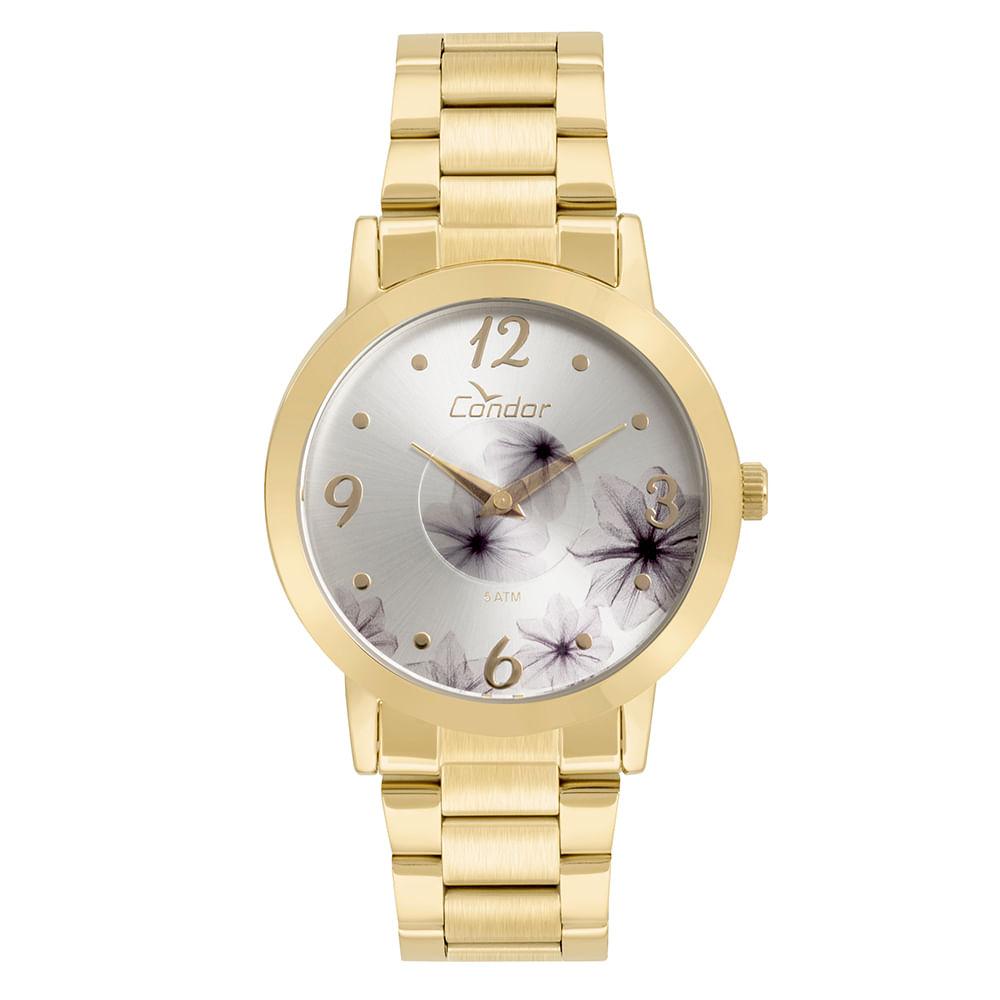54e1257463465 Relógio Condor Feminino Fashion Disco Dourado - CO2035KVW 4K ...