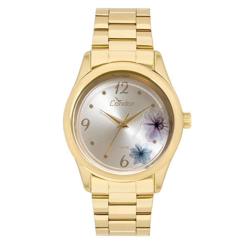 ace3bdc42f625 Relógio Condor Feminino Fashion Shake Dourado - CO2035KVX 4K ...