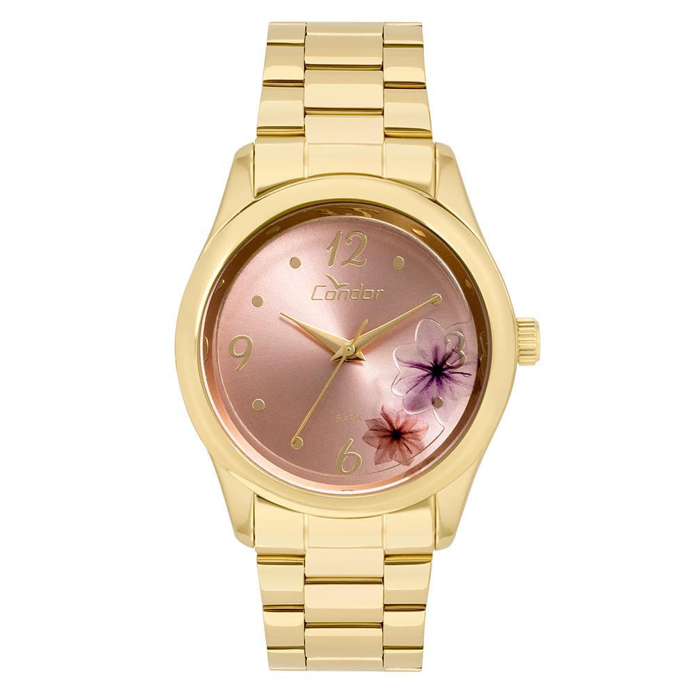 3c5ca219686 Relógio Condor Feminino Fashion Shake Dourado - CO2035KVX 4T ...