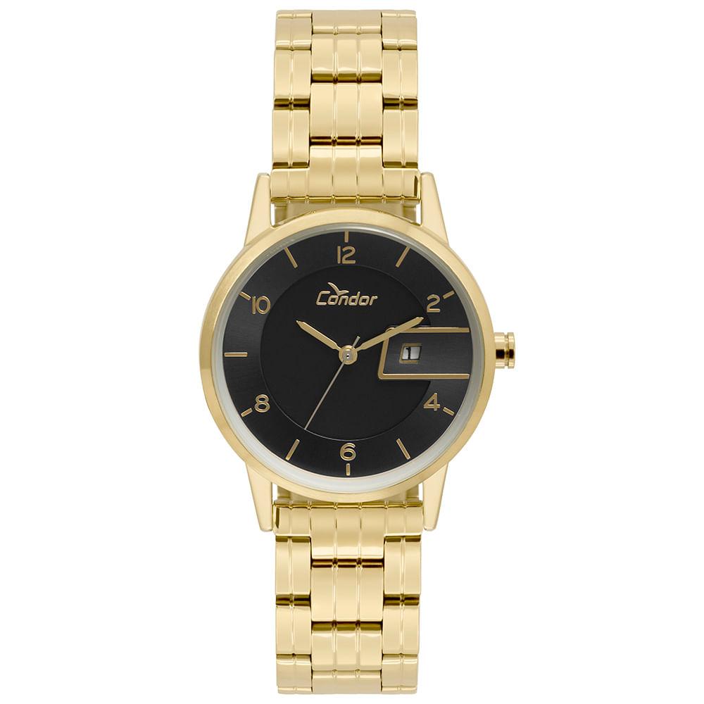 40042165b5c Relógio Condor Feminino Eterna Bracelete Dourado - COGL10BN 4P ...