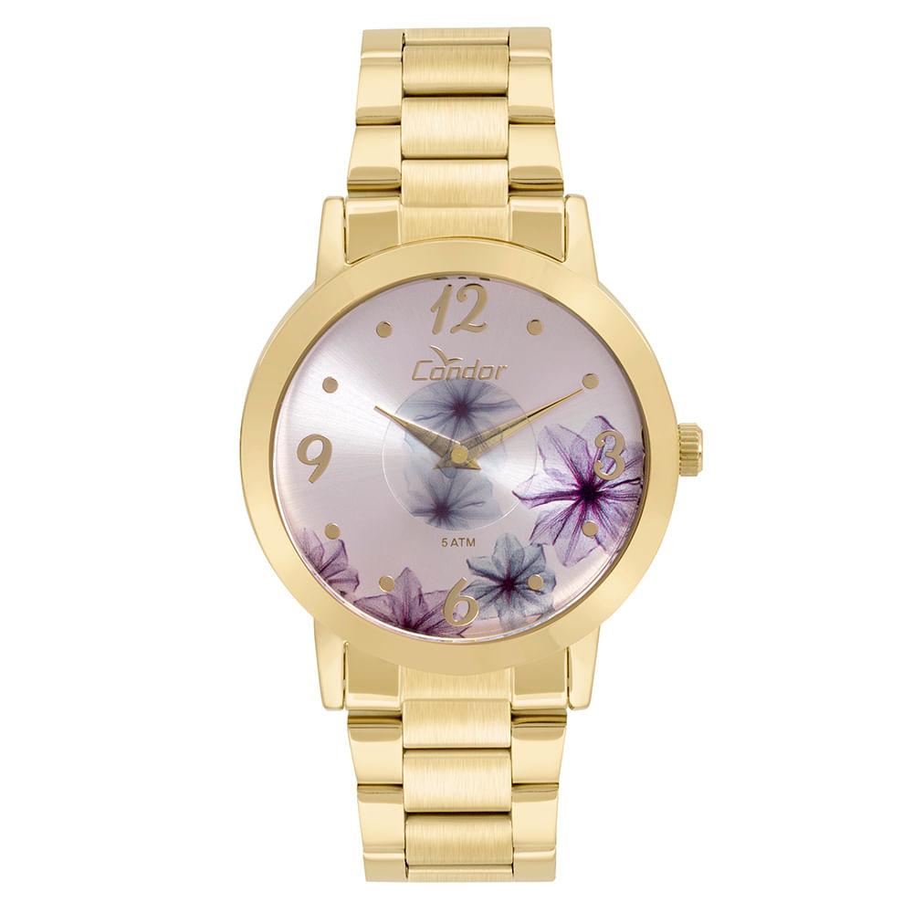 801a3b1c57a10 Relógio Condor Feminino Fashion Disco Dourado - CO2035KVW 4G ...