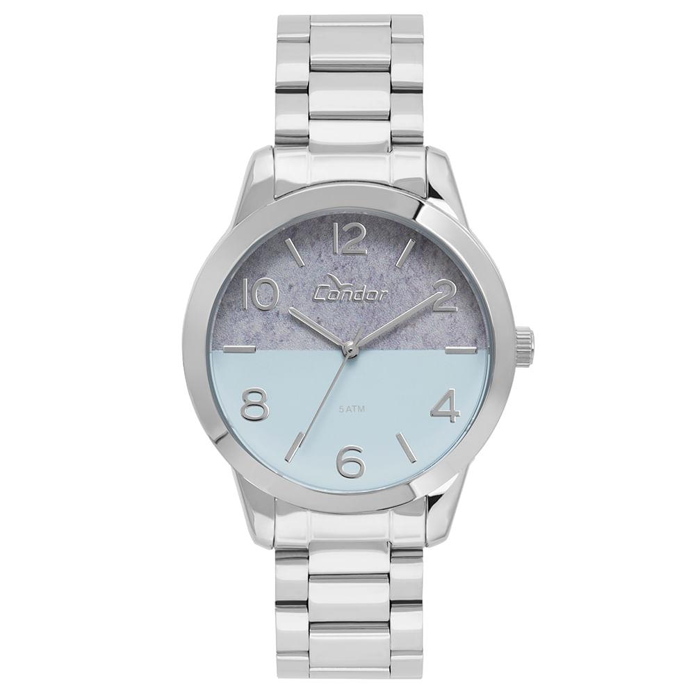 dcf8826bd16 Relógio Condor Feminino Eterna Bracelete Prata - CO2035KWB 3A - condor