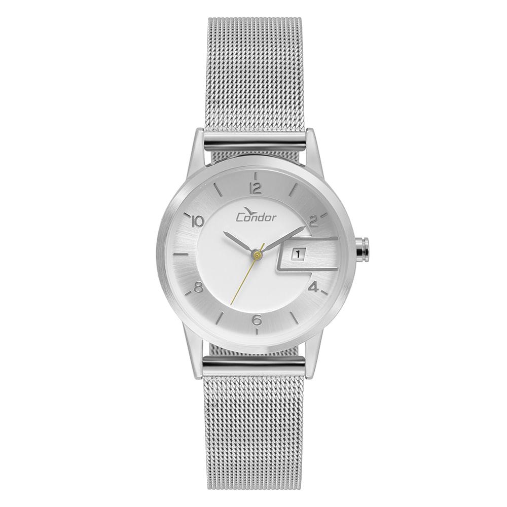 4d96e0a8506 Relógio Condor Feminino Eterna Bracelete Prata - COGL10BO 3K ...