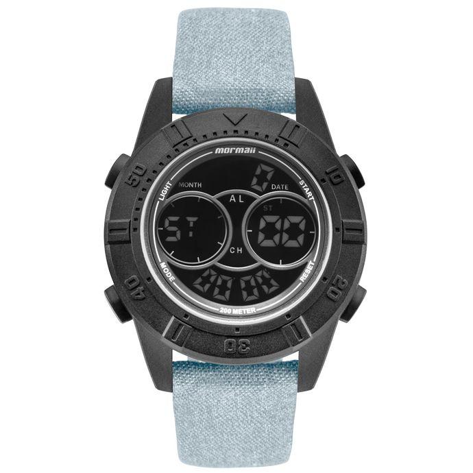 5766c9371e45f Relógio Mormaii Masculino Acqua Action Preto - MO150915AH 2F