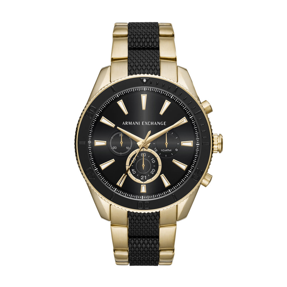 a81d27427c425 Relógio Armani Exchange Masculino Enzo Dourado - timecenter
