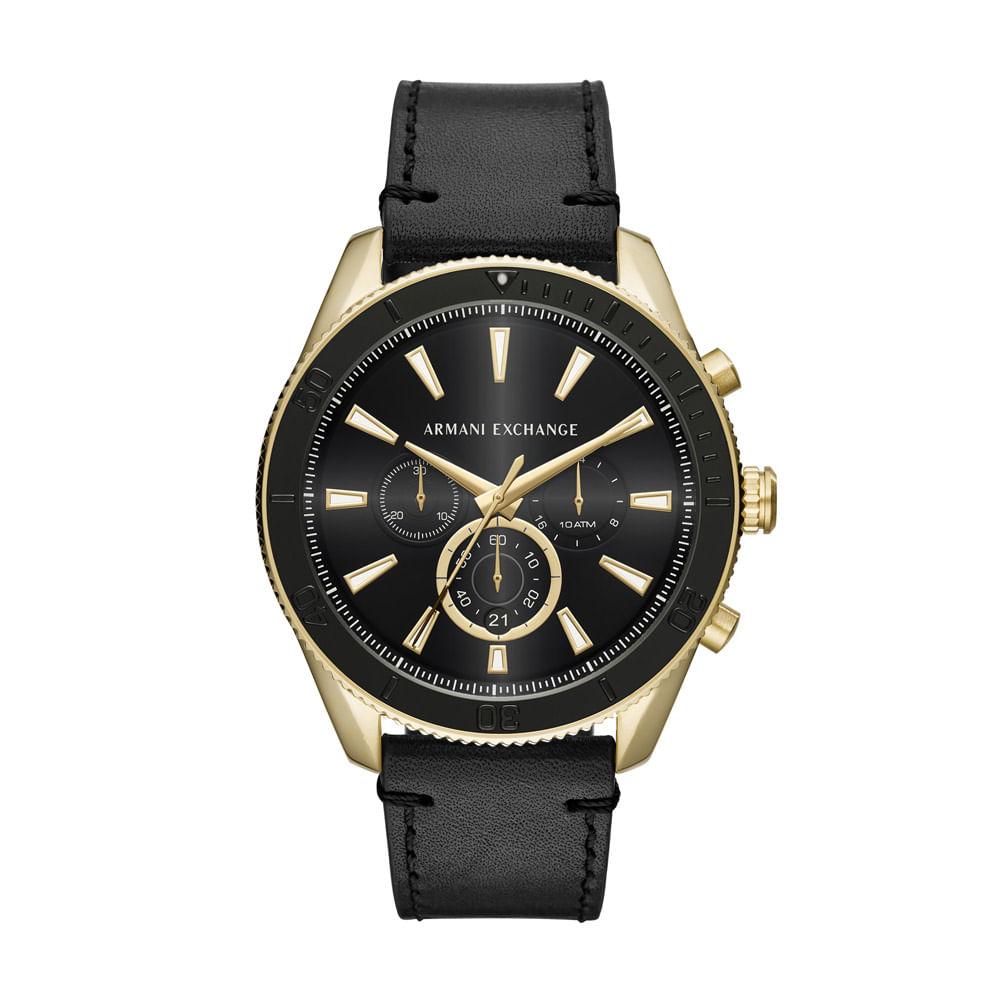 7421e69eb6a Relógio Armani Exchange Masculino Classic Enzo Preto - AX1818 0PN ...