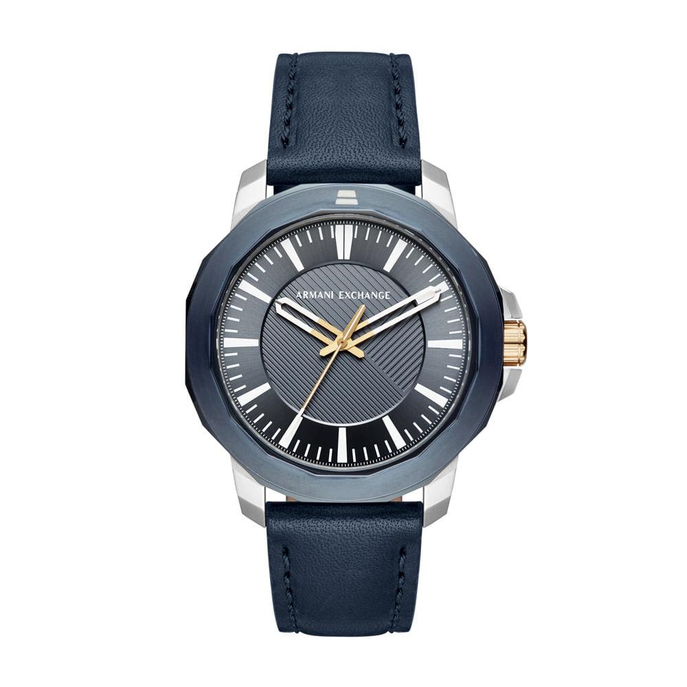 afa491eda5b Relógio Armani Exchange Masculino Classic Ryder Azul - AX1905 0AN ...