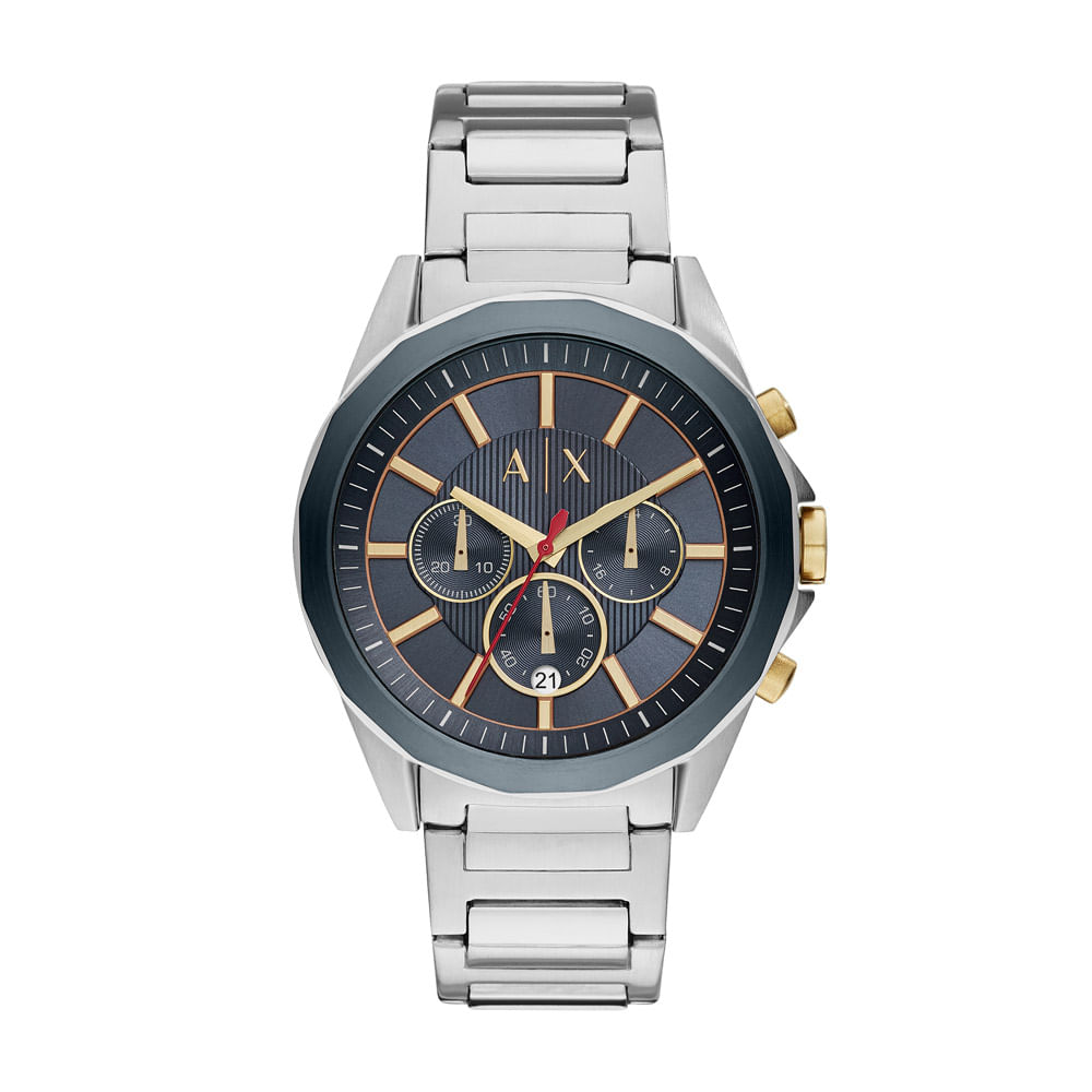 4f18e032f96 Armani Exchange. Relógio Armani Exchange Masculino Classic Drexler Prata ...