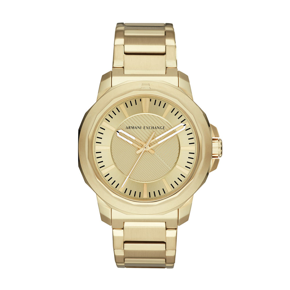 4518ae6781e Relógio Armani Exchange Masculino Classic Ryder Dourado - AX1901 1DN ...