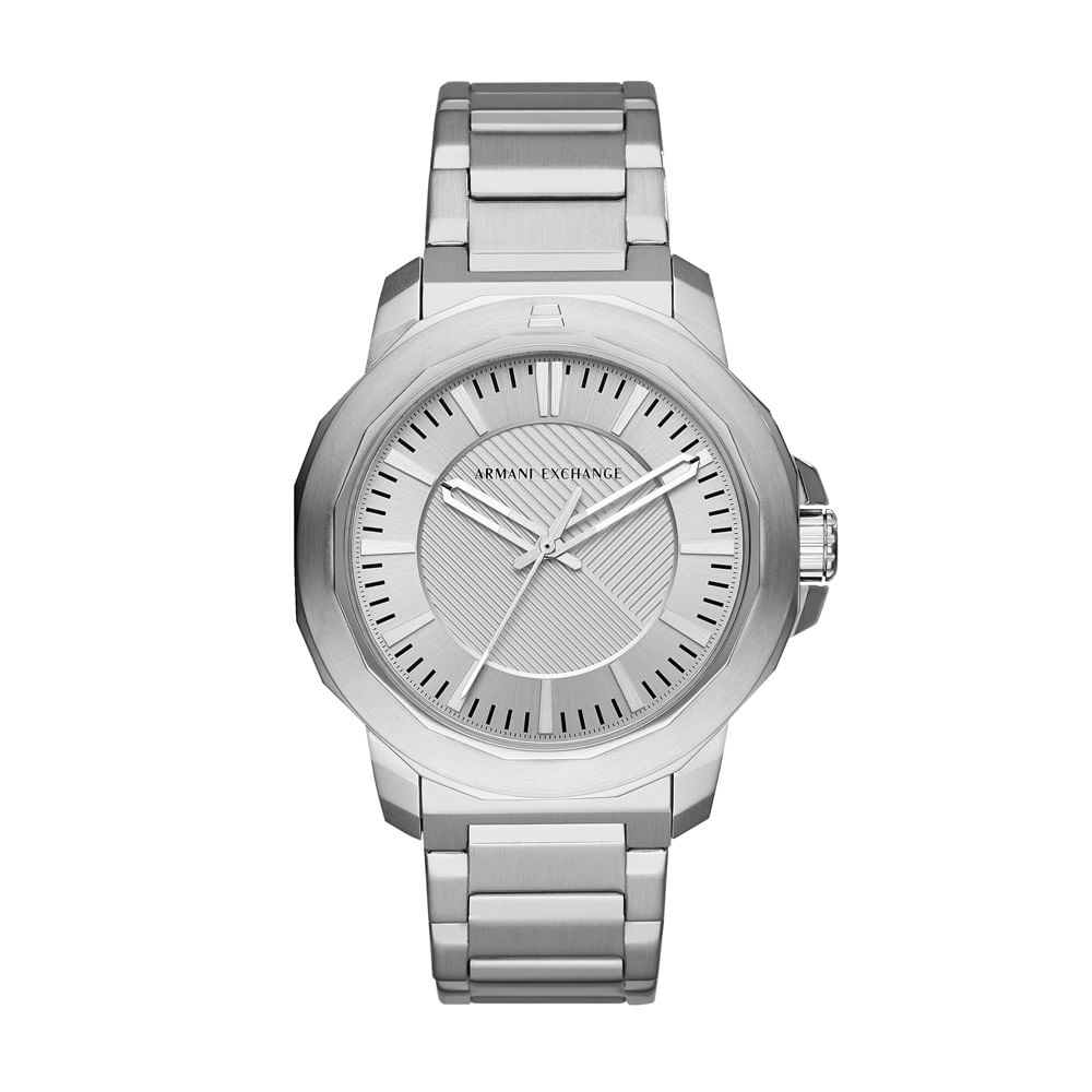 6c938761cce Relógio Armani Exchange Masculino Classic Ryder Prata - AX1900 1KN ...