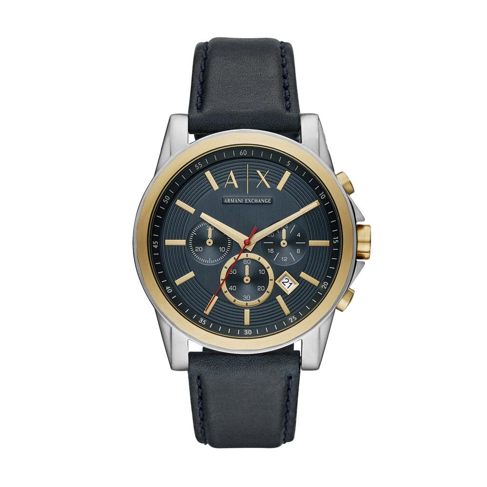 319ebdaa9db Relógio Armani Exchange Masculino Classic Outerbanks Preto - AX2515 ...