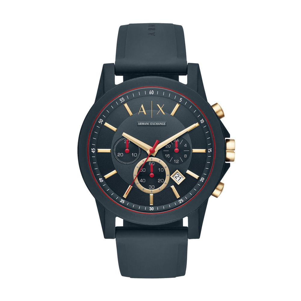 1b9c4577a41 Relógio Armani Exchange Masculino Classic Outerbanks Azul - AX1335 ...