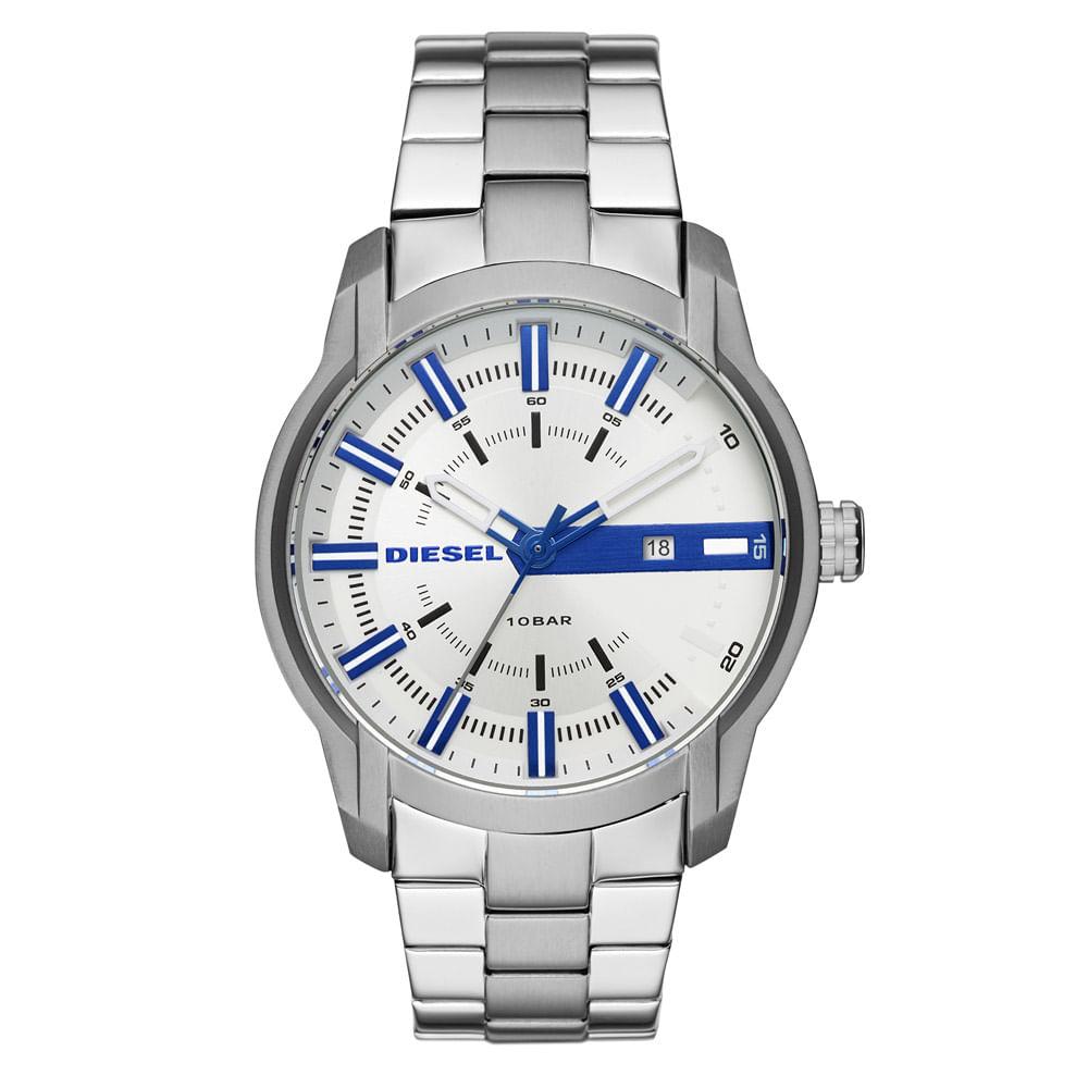 9cfc2fe999e97 Relógio Diesel Masculino Basic Armbar Prata - DZ1852 0BN - timecenter