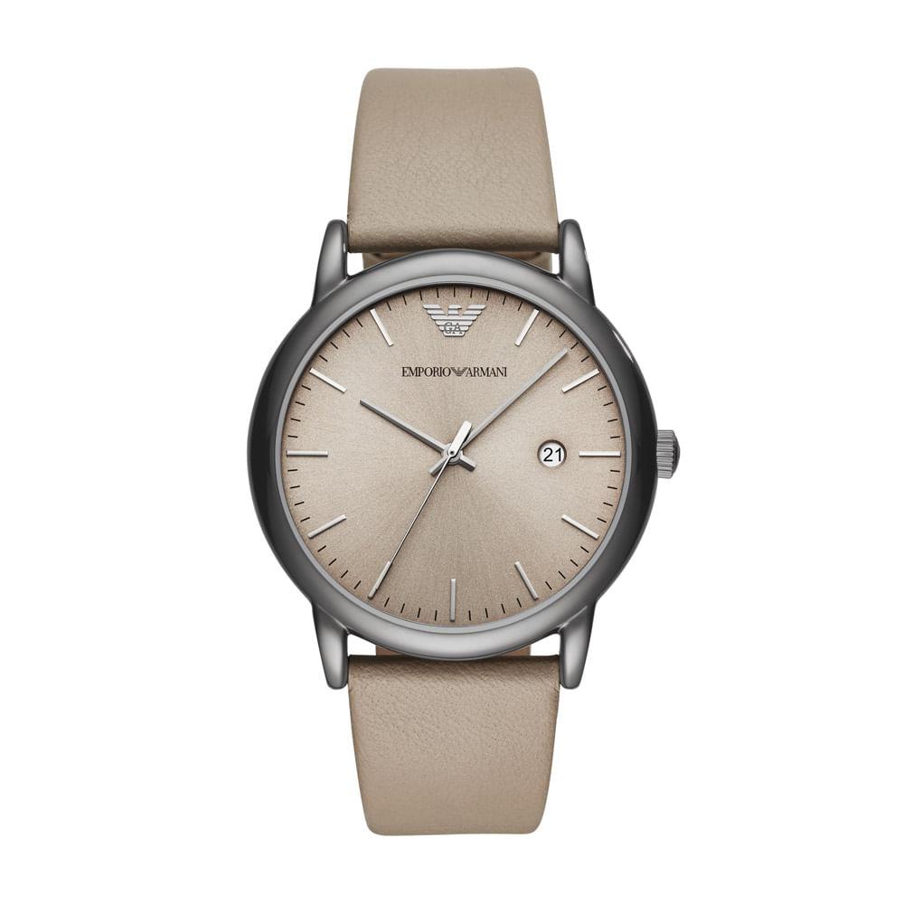 fb0245572 Relógio Empório Armani Masculino Classic Luigi Bege - AR11116/0MN ...