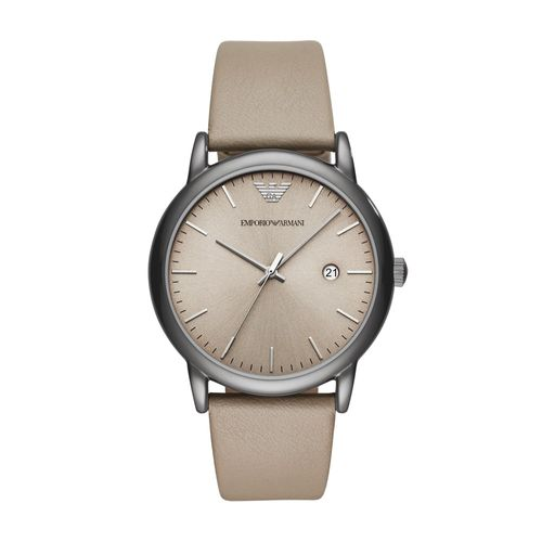 cfd55c0ab6375 Relógio Empório Armani Masculino Classic Luigi Bege - AR11116 0MN -  timecenter