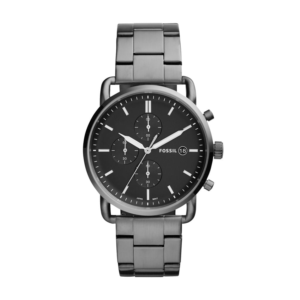 b3b0639886f Relógio Fossil Masculino Casual The Commuter Chrono Grafite - FS5400 ...
