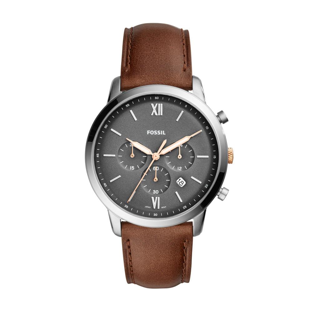 45312ff553c Relógio Fossil Masculino Casual Neutra Chrono Marrom - FS5408 0MN ...