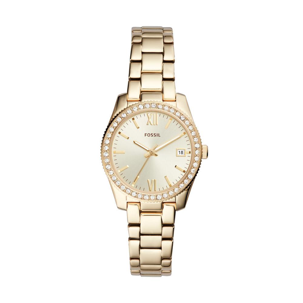 7e103caa6e1dd Relógio Fossil Feminino Ladies Scarlette Dourado - ES4374 1DN - fossil