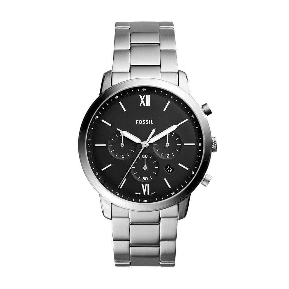 369da6ed838 Relógio Fossil Masculino Casual Neutra Chrono Prata - FS5384 1KN ...