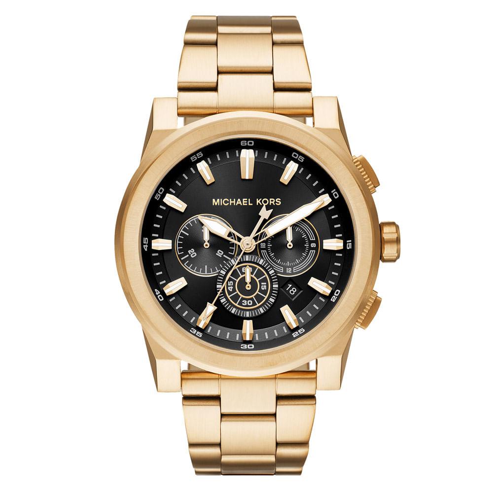 92f8f032c Relógio Michael Kors Unissex Essential Grayson Dourado - MK8599/1DN ...