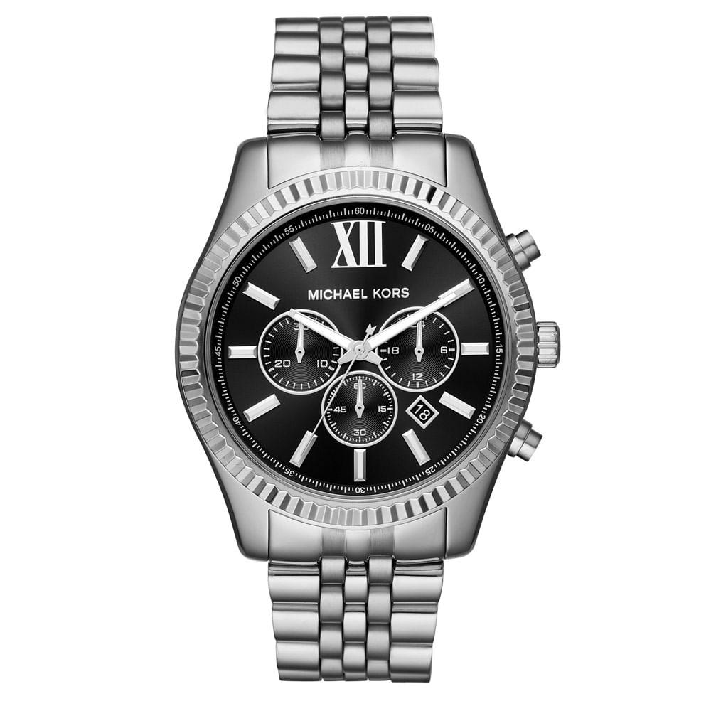 e13596cb2 Relógio Michael Kors Feminino Essential Lexington Prata - MK8602/1KN ...