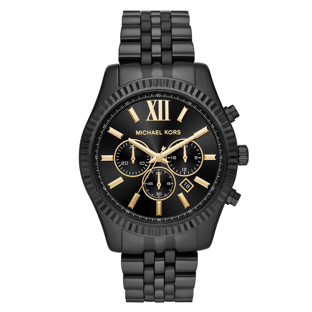 cfa6b07d0f5bb Relógio Michael Kors Feminino Essential Lexington Preto - MK8603 1PN ...