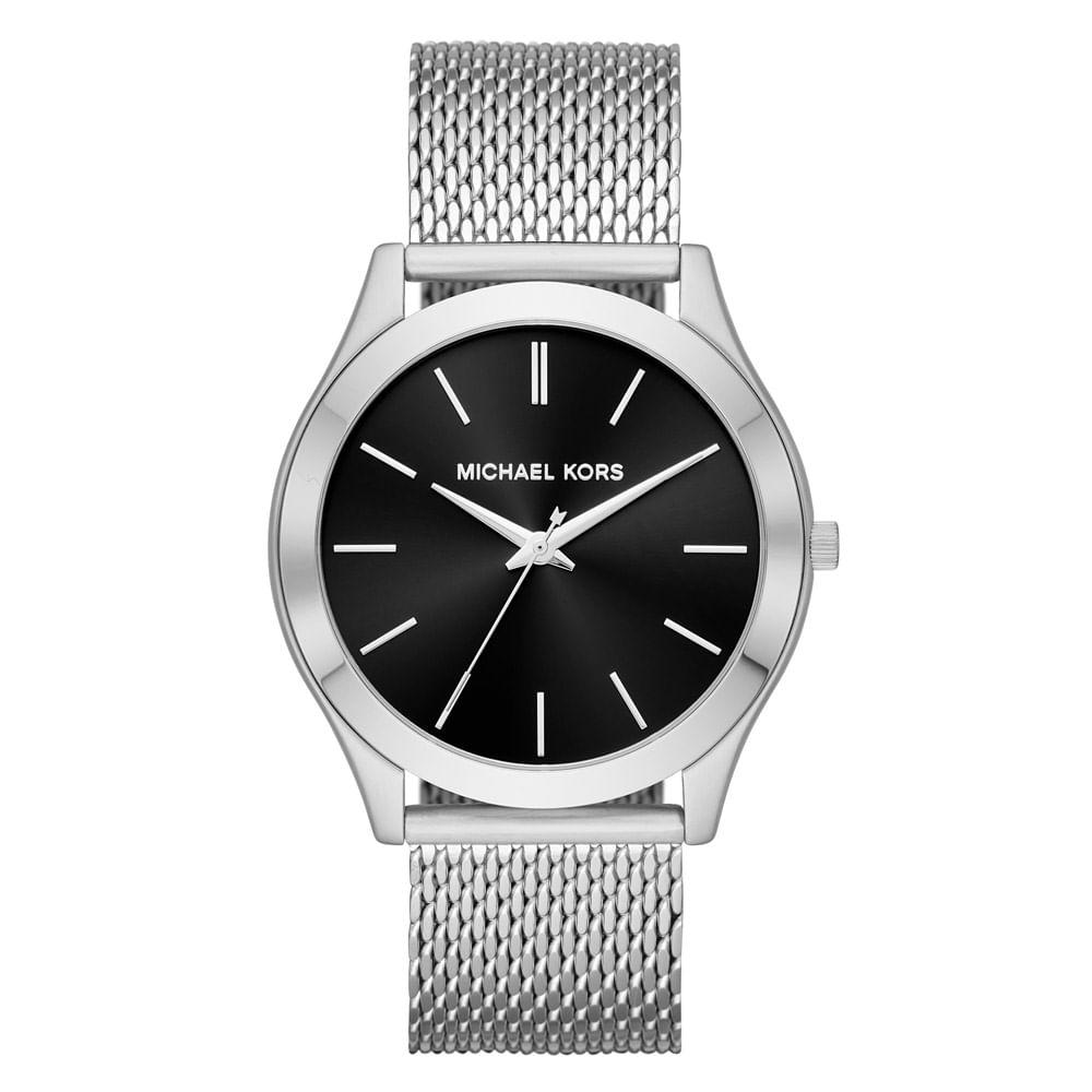 cdcadb6316740 Relógio Michael Kors Feminino Essential Slim Runway Prata - MK8606 ...
