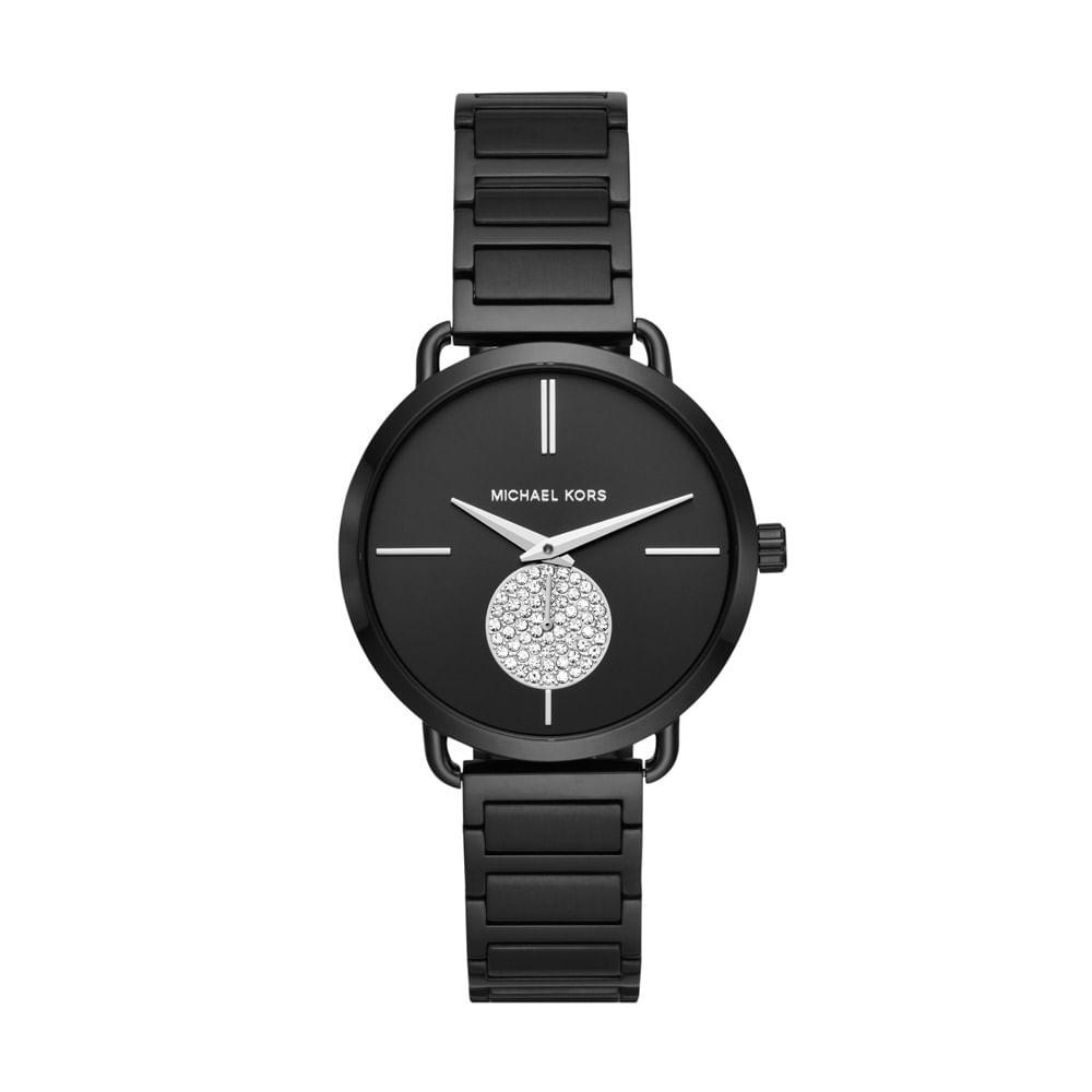 Relógio Michael Kors Feminino Essential Portia Preto - MK3758 1PN ... 9dda7a6196
