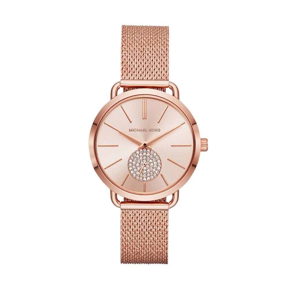 7ec0055dca7 Relógio Michael Kors Feminino Essential Portia Rosé - MK3845 1JN ...