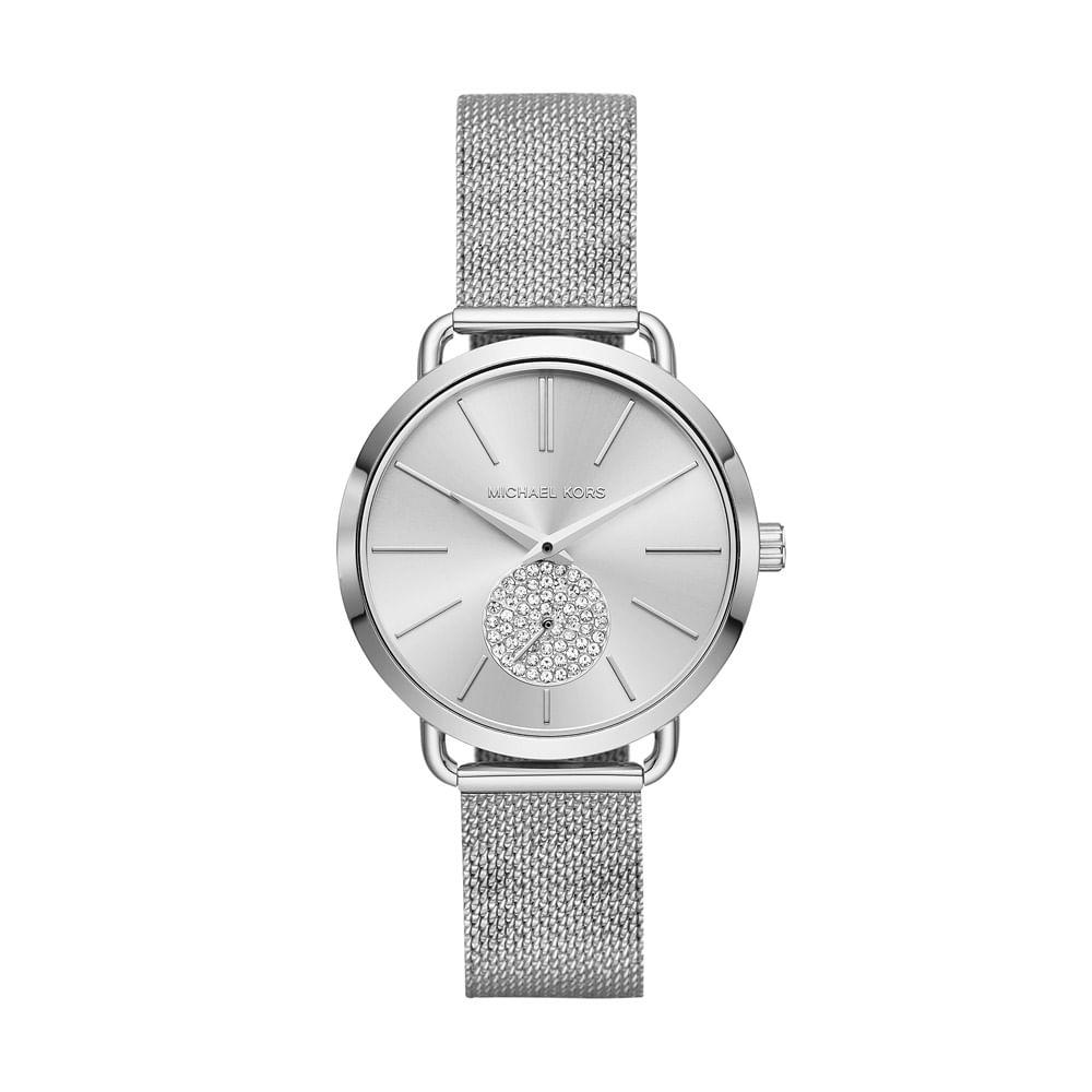 86418b607152a Relógio Michael Kors Feminino Essential Portia Prata - MK3843 1KN ...