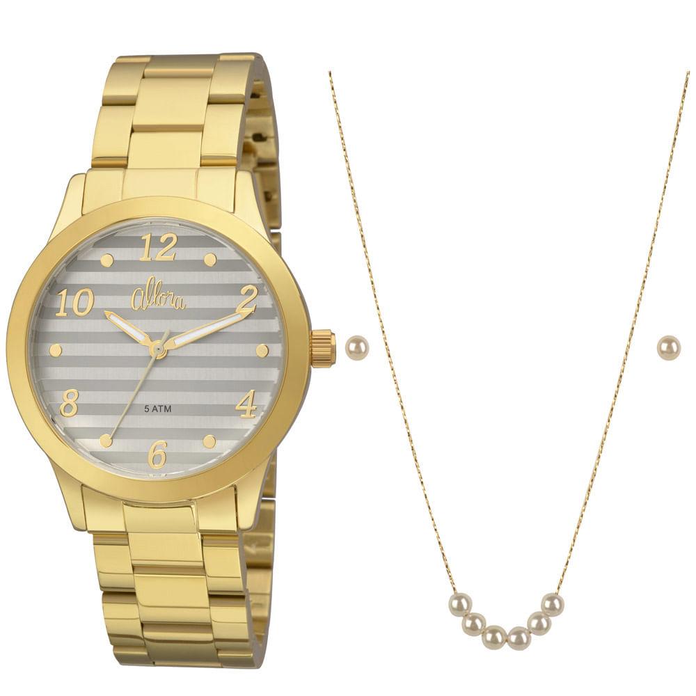e723b63e217 Relógio Allora Feminino AL2035FIF K4C - Dourado - timecenter