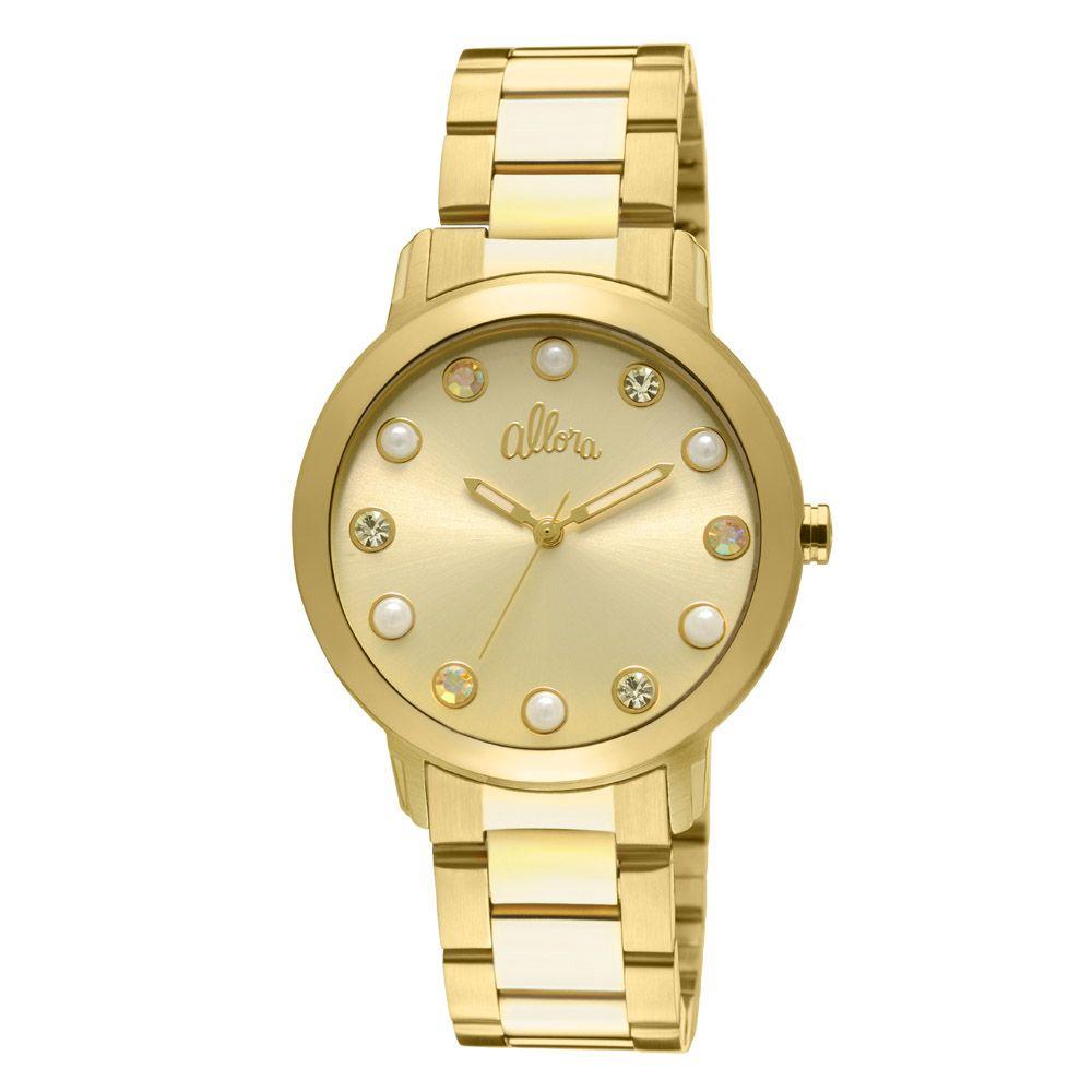 06a66ef6a09c1 Relógio Allora Feminino AL2035LR 4D - Dourado - timecenter