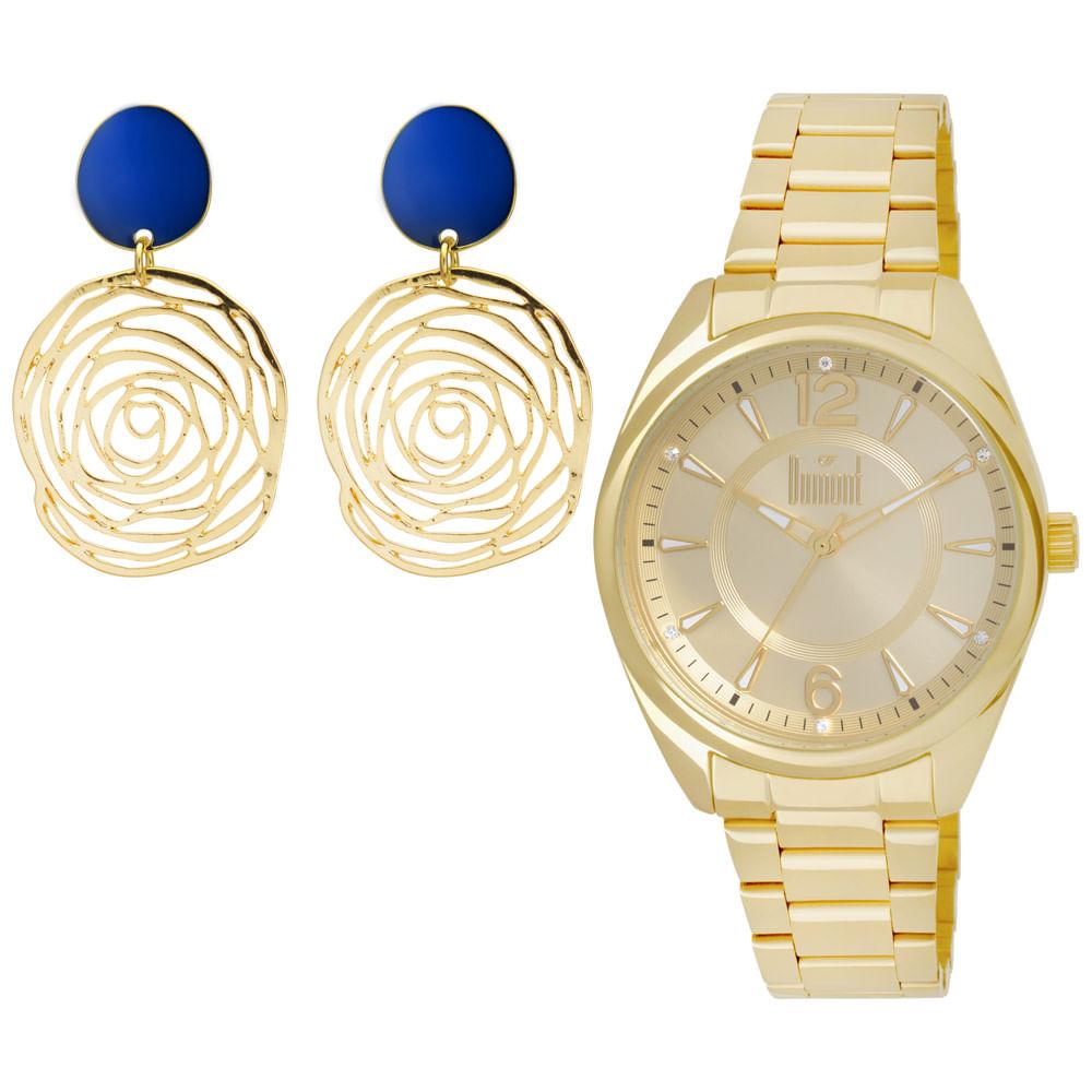 2a927b3f4fa Relógio Dumont London Feminino Champanhe - timecenter