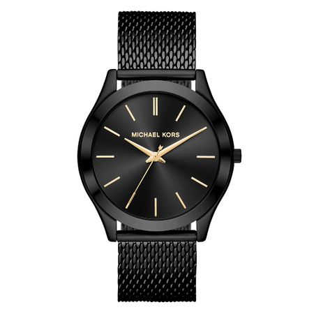 Relógio Michael Kors Feminino Essential Slim Runway Preto - MK8607/1PN