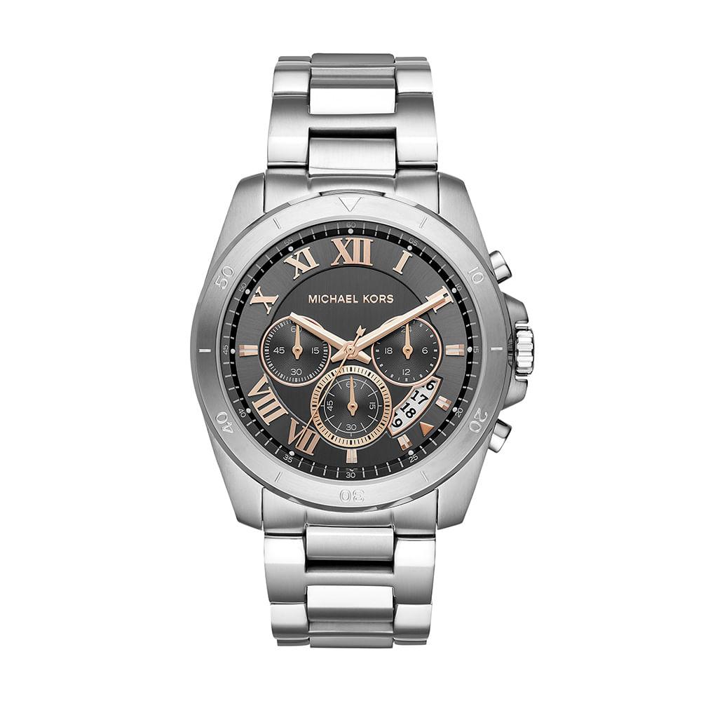 7bbdc3d7d Relógio Michael Kors Unissex Essential Brecken Prata - MK8609/1KN ...