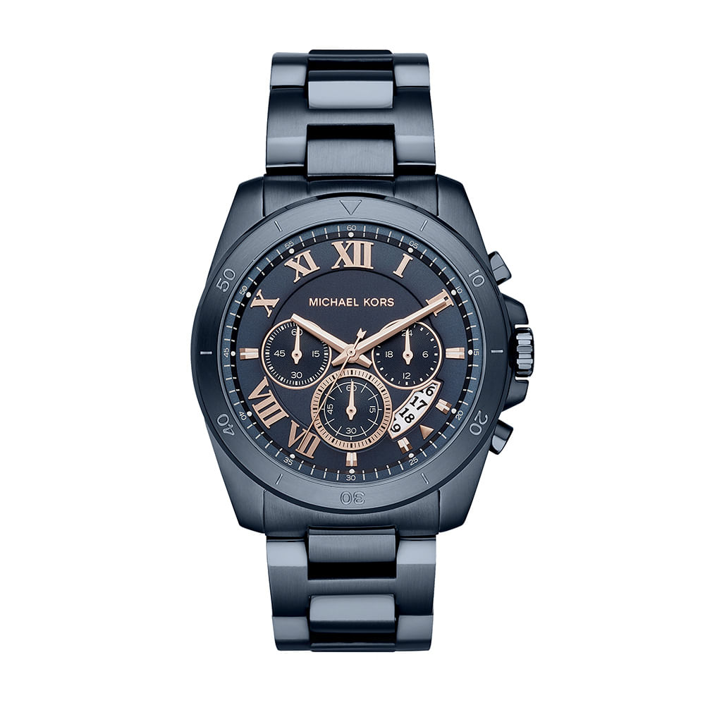 f499ee30e Relógio Michael Kors Unissex Essential Brecken Azul - MK8610/1AN ...