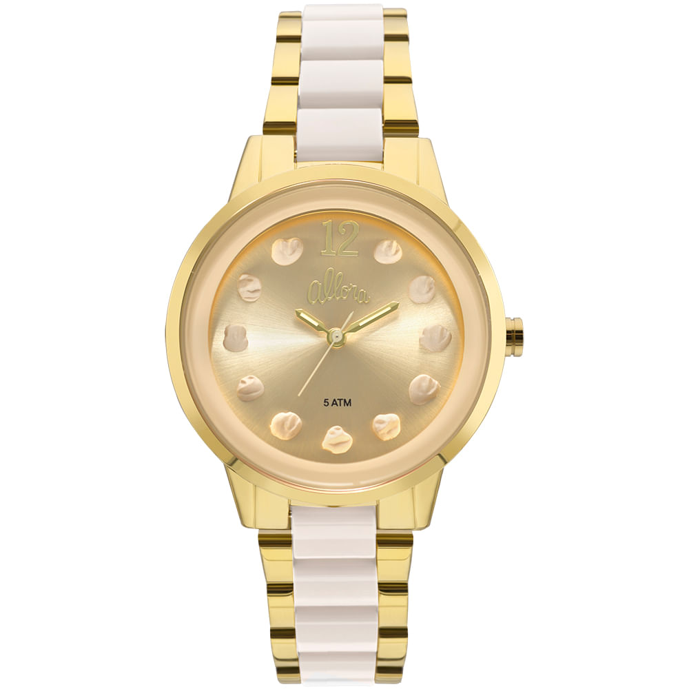 78884d9fa07 Relógio Allora Feminino Par Perfeito Flor Bicolor - AL2039AS K4B ...